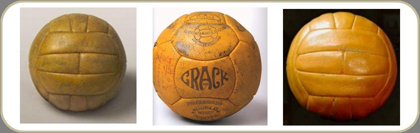 Da esquerda para a direita  bolas utilizadas nas Copas de 1958 5b21b4601dd08