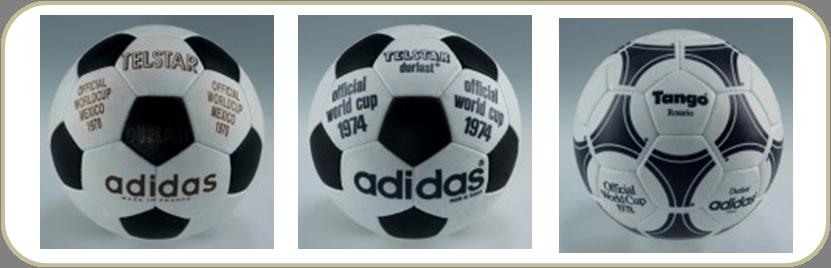 ad4a2d0701 Da esquerda para a direita  bolas utilizadas nas Copas de 1970
