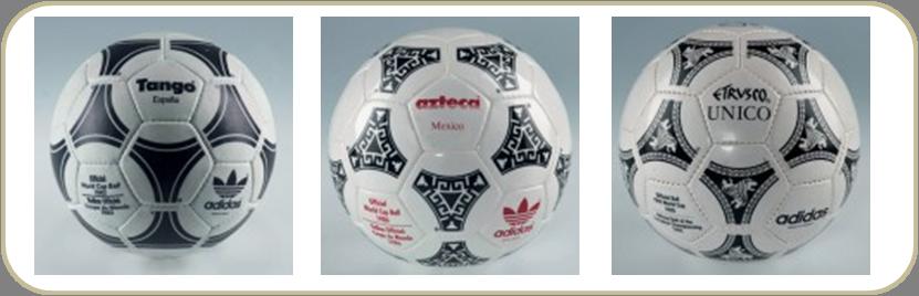 Da esquerda para a direita  bolas utilizadas nas Copas de 1982 e248b0312bb6a