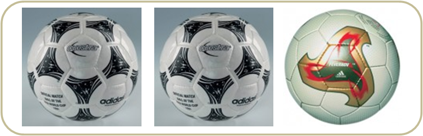 Da esquerda para a direita  bolas utilizadas nas Copas de 1994 aa044a00ae601